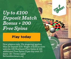Mr Green 25 Free Spins Dead or Alive 2 slot
