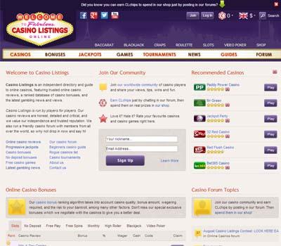 Casino Listings