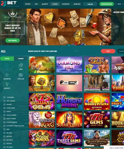 22Bet Casino Review 2021