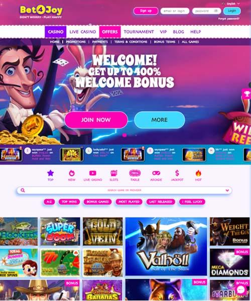 Bet4Joy Casino Review 2021