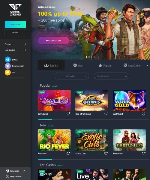 Buran Casino Review 2021