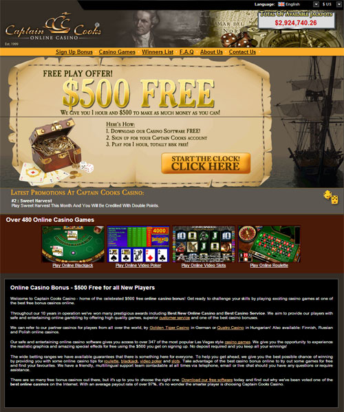 Captain Cooks Casino Review 2021