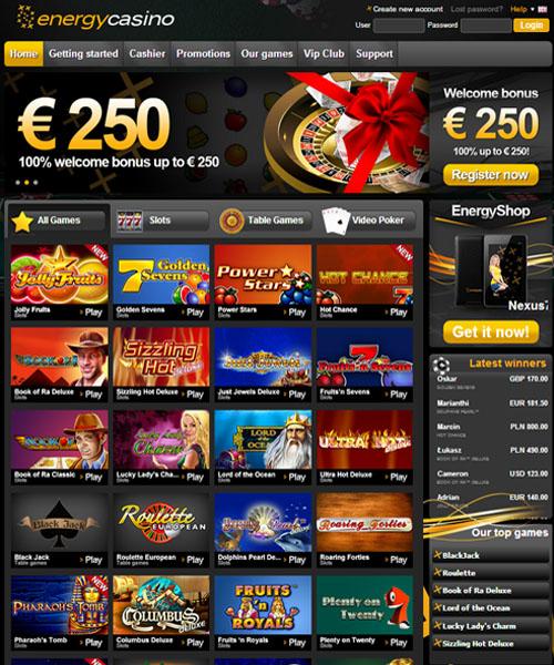 Energy Casino Review 2021