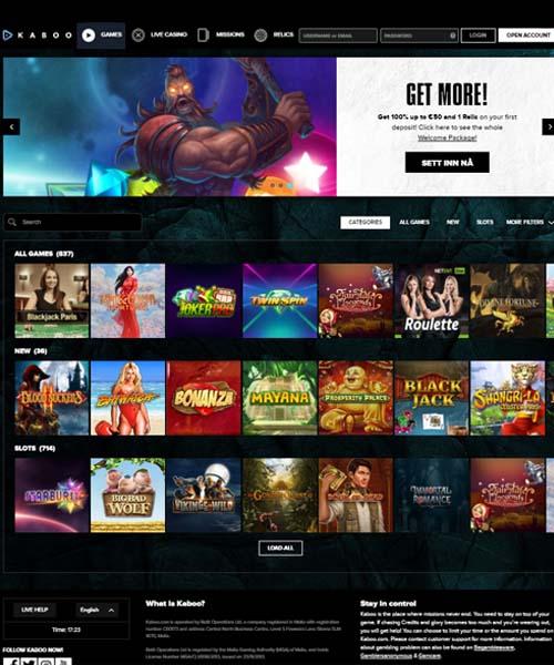 Kaboo Casino Review 2021