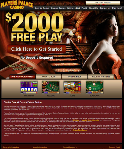 Players Palace Casino Review 2021