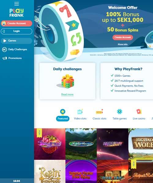PlayFrank Casino Review 2021