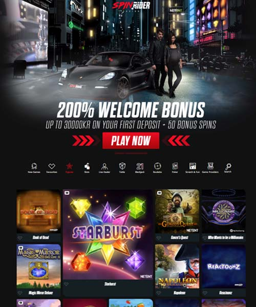 Spin Rider Casino Review 2021