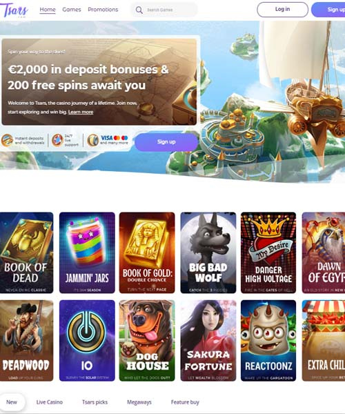 Tsars Casino Review 2021
