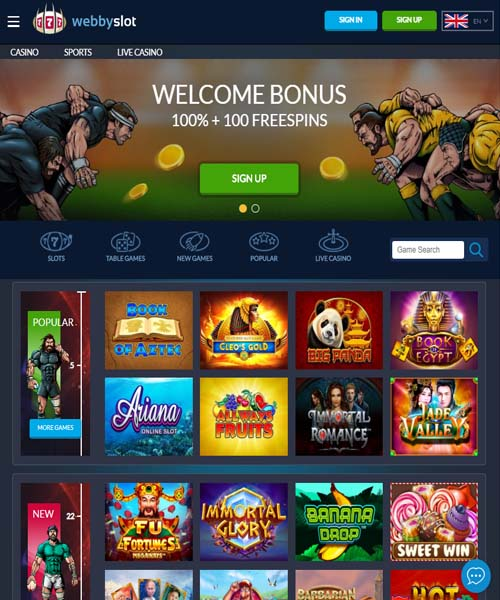 Webbyslot Casino Review 2020