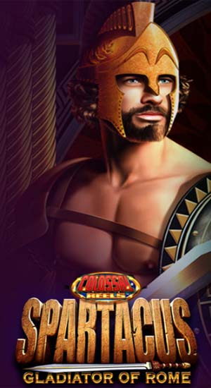 100 winning lines with wilds in Spartacus slot at Casumo