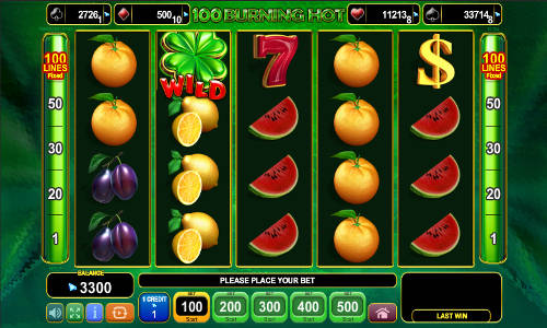 100 Burning Hot free slot