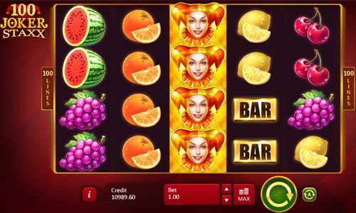100 Joker Staxx free slot