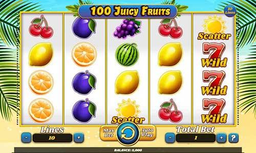 100 Juicy Fruits free slot