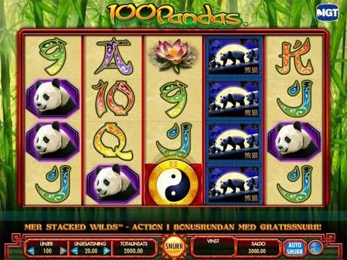 100 Pandas free slot