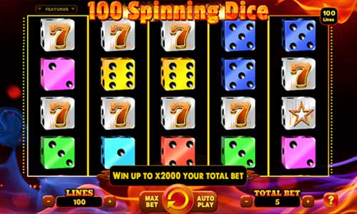 100 Spinning Dice free slot
