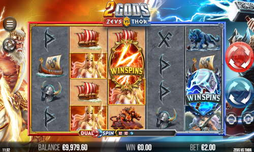 2 Gods Zeus vs Thorwin both ways slot