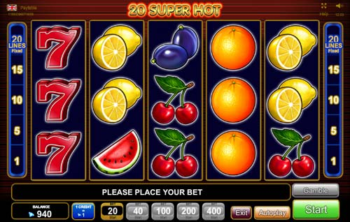 20 Super Hot free slot