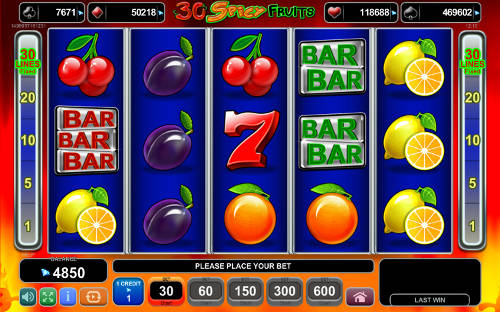30 Spicy Fruits free slot