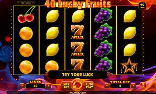 40 Lucky Fruits free slot
