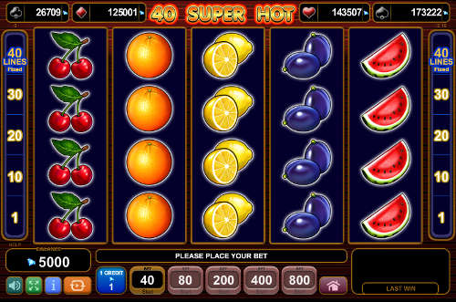 40 Super Hot free slot