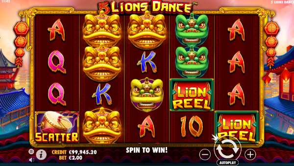 5 Lions Dance free slot