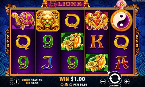 5 Lions free slot