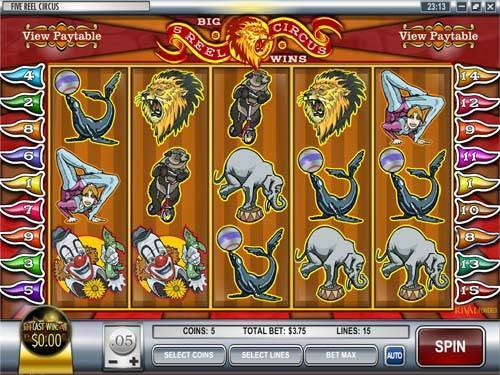 5 Reel Circus free slot