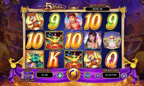 5 Wishes free slot