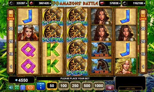50 Amazons Battle slot