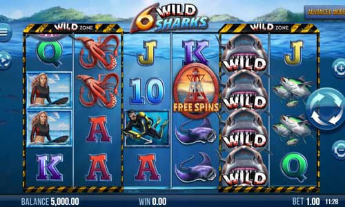 6 Wild Sharks free slot