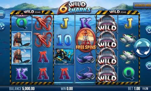 6 Wild Sharkssticky wilds slot