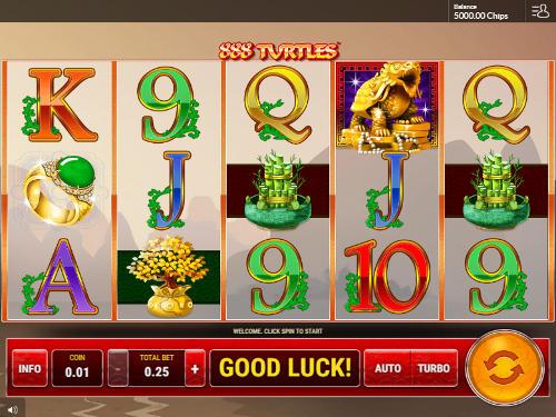888 Turtles free slot