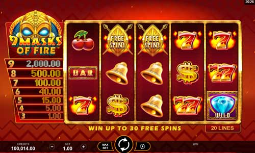 9 Masks of Fire free slot