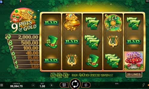 9 Pots of Gold free slot