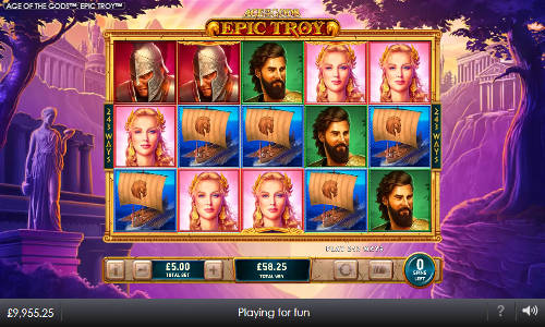 Age of the Gods Epic Troyjackpot slot