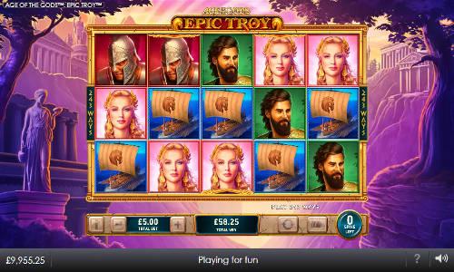 Age of the Gods Epic Troy free slot