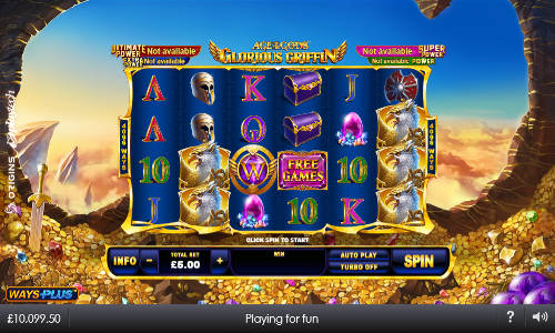 Age of the Gods Glorious Griffinjackpot slot