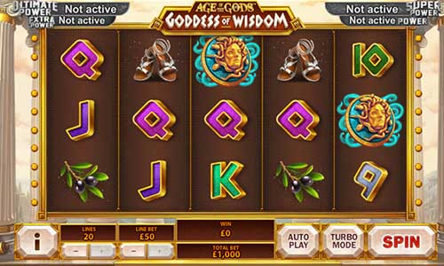 Age of the Gods Goddess of Wisdom free slot