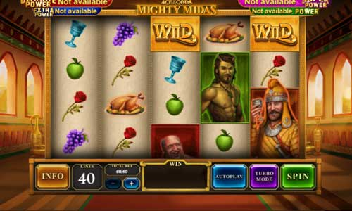 Age of the Gods Mighty Midasincreasing multiplier slot