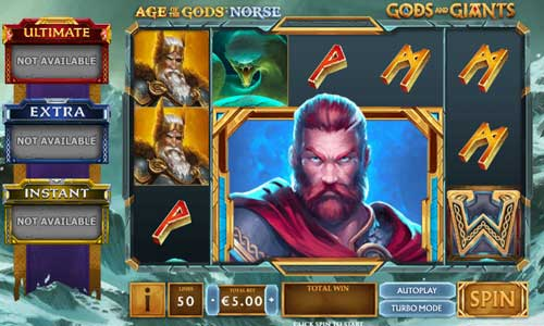 Age of the Gods Norse Gods and Giantsjackpot slot
