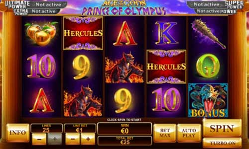Age of the Gods Prince of Olympus free slot