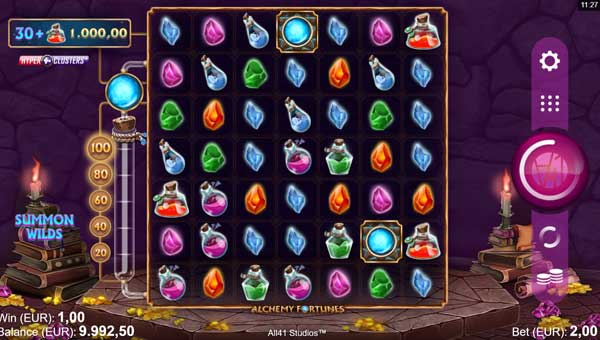 Alchemy Fortunes free slot