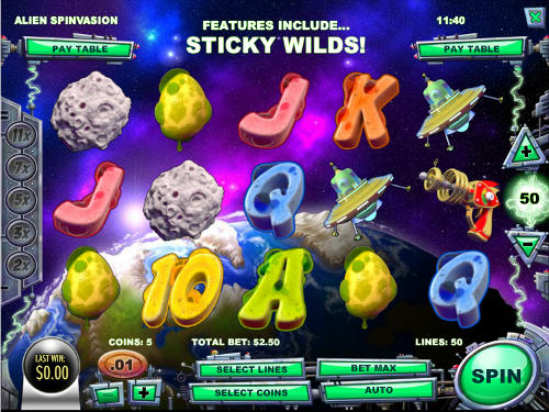 Alien Spinvasion free slot