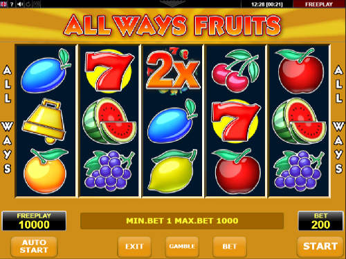 Allways Fruits slot