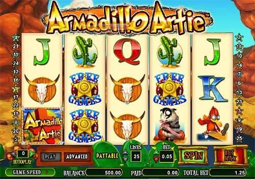 Armadillo Artie free slot