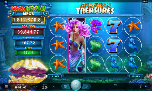 Atlantean Treasures Mega Moolah free slot