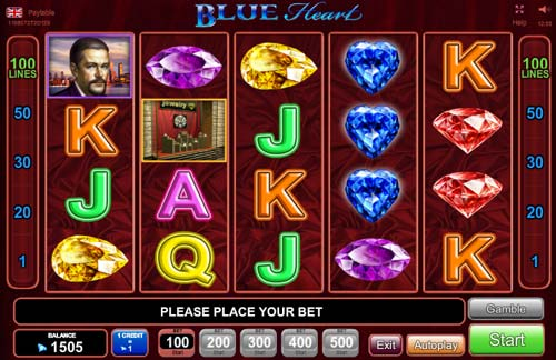 Blue Heart free slot