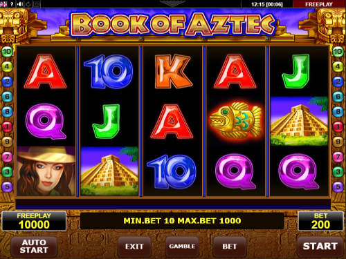 Book of Aztec free slot