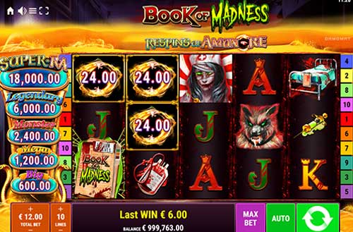 Book of Madness Respins of AmunRejackpot slot