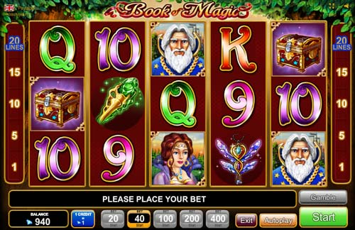 internet casino online book of magic